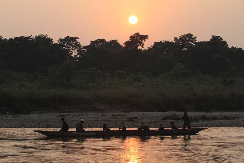 Boating in Chitwan